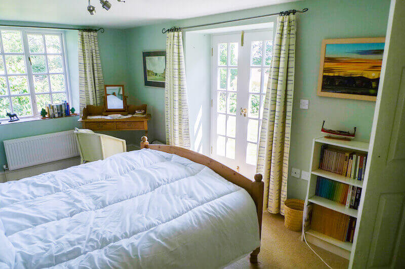 The Garden View room at Orchard House Cornwall