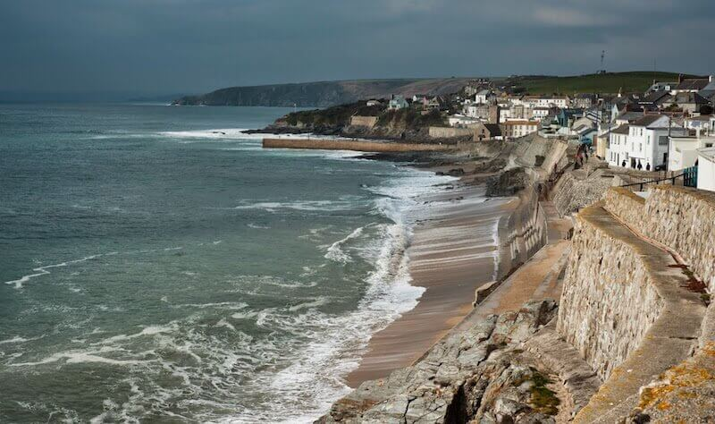 Porthleven from the cliff path